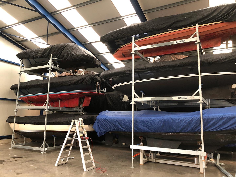 Jachthaven Stenhuis - Botenstalling - Winterstalling - Yachtcraddles - Verwarmde stalling